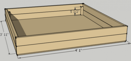 4' Raised Bed building schematic