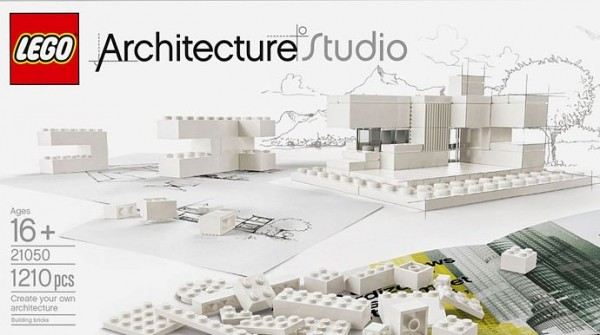 The Lego Architecture Studio set contains tons of white and clear bricks and no specific directions.