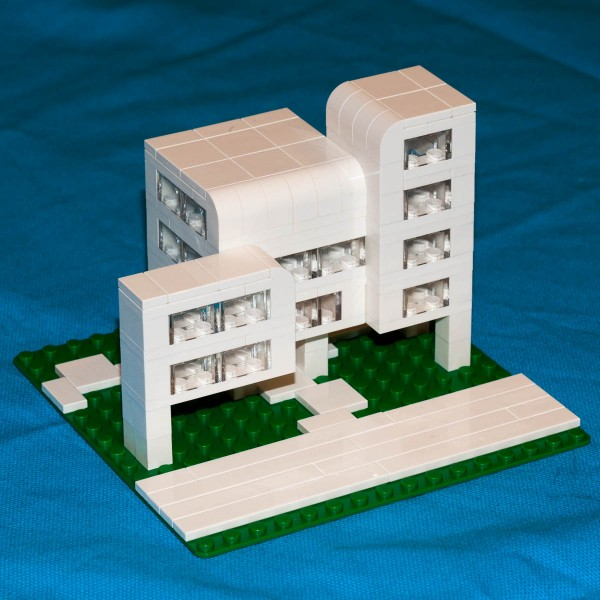 Brutalist style apartment building.