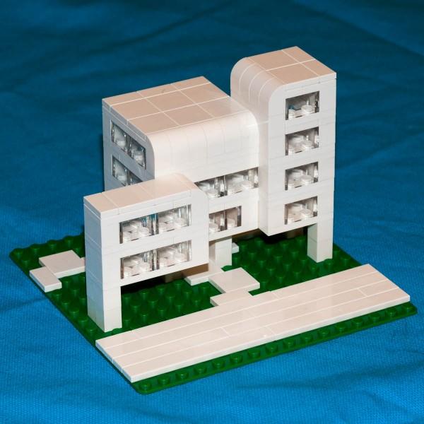 Brutalist style apartment building.