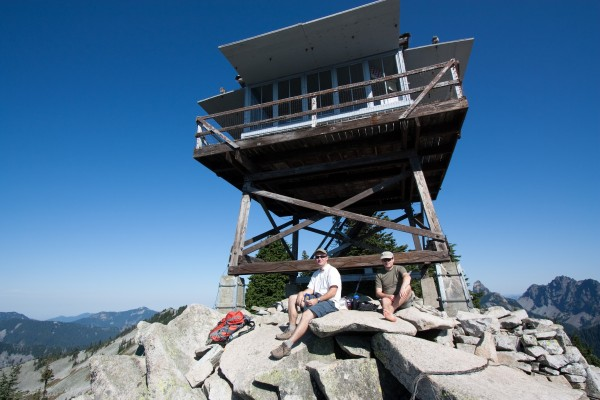 Brendan and Jason in front of the Granite mountain lookout. (Sept 13, 2009)