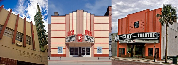 Examples of Art Deco Theaters from Waynecam PBase collection.