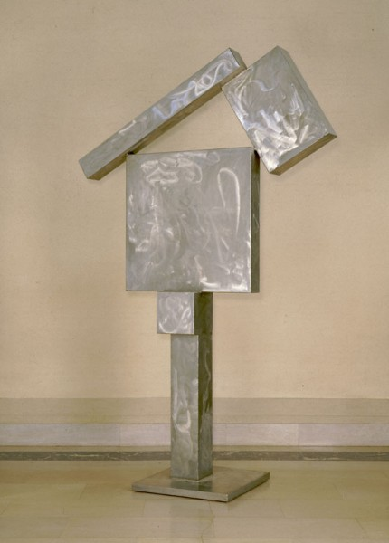 """Cubi XIV"" by David Smith. 1963, Stainless steel.  Saint Louis Art Museum."