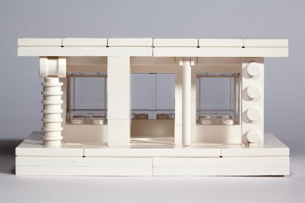 This model shows the history of architecture in it's columns.  Naturally, the LEGO brick is the most evolved form yet.
