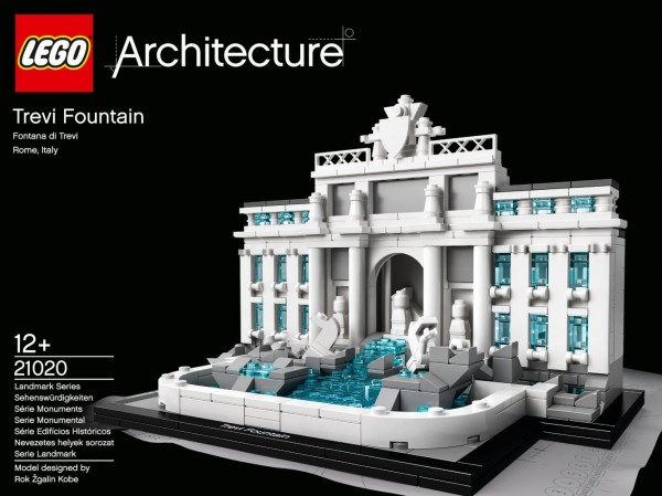 "Box cover for the upcoming ""Trevi Fountain"" LEGO Set, #21020"