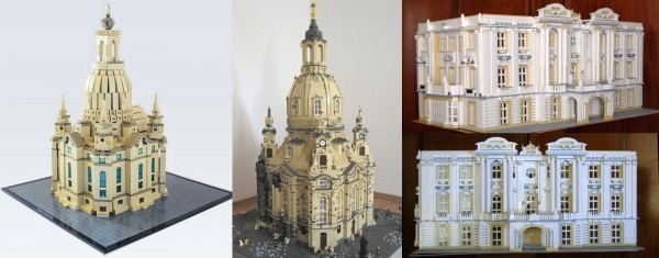 "Two versions of ""Frauenkirche Dresden"" by Moriartus and by Holger Matthes; ""Palacio de Amboage"" by José Lopez."