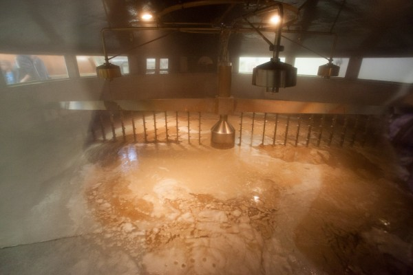 A really large covered Mash Tun at Glenfiddich distillery.