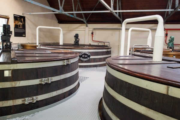A big distillery like Glenfiddich has a lot of Washbacks, while smaller distilleries might have only a couple.