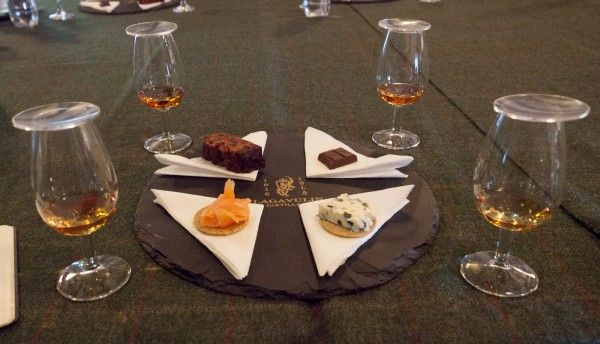 "Lagavulin offers an excellent ""pre-dinner tasting"" which pairs four expressions of their whisky with food for 15£."