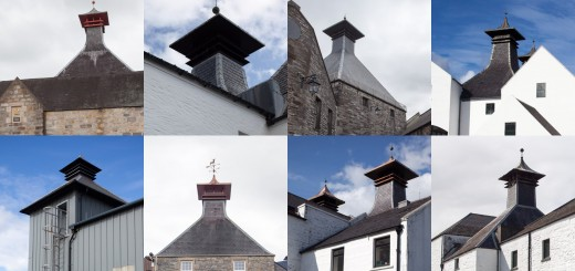 The iconic architectural feature of almost every Scotch Whisky distillery is the pagoda-style roof for drying the barley.