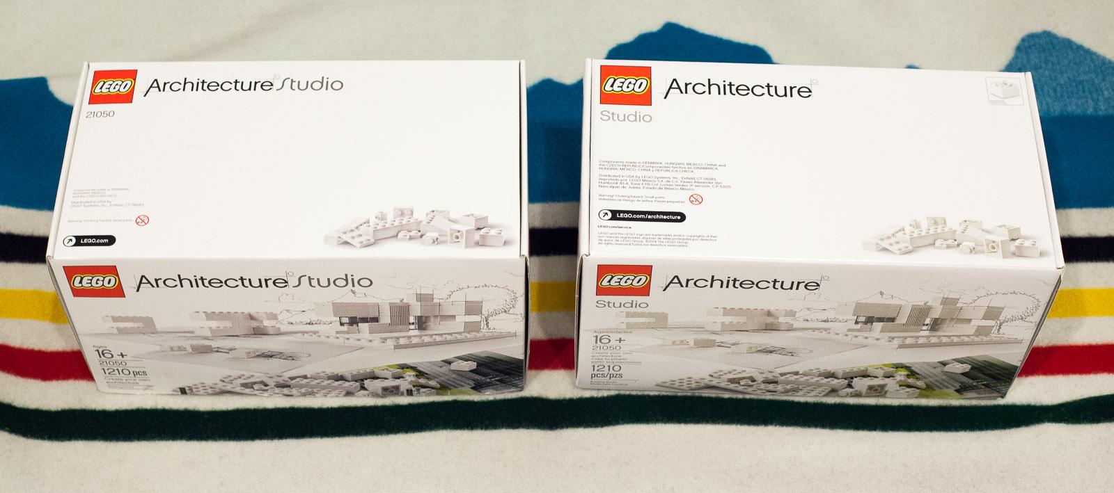 "Architecture Studio Lego minor changes in latest 21050 – ""architecture studio"" set. – tom"
