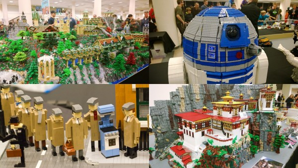You will see a huge range of models at BrickCon such as these models from past years: Rivendell (Alice Finch), a Full-scale R2D2 (Shawn Steele), Tiger's Nest Monastery (Anu Pehrson), and Monty Python.