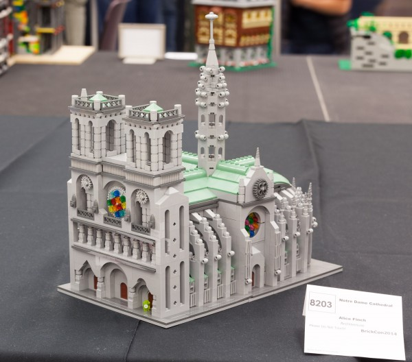 "Even this amazing medium-sized model of Notre Dame by Alice Finch is technically ""micro scale"" since it is smaller than mini-figure scale."
