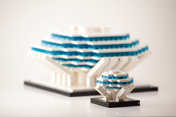 My micro-scale version of the Geisel Library which I displayed in Mini BrickCon.
