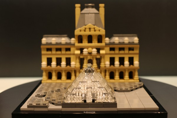 A photo of the unreleased LEGO Architecture set 21024, The Louvre.