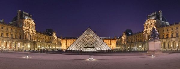 The Louvre Pyramid (1989) in Paris, France by architect I.M. Pei.  Photo by Benh LIEU SONG. / CC By SA 3.0