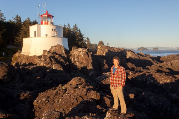 Standing next to the lighthouse where I took the lighthouse photo 8 years earlier.