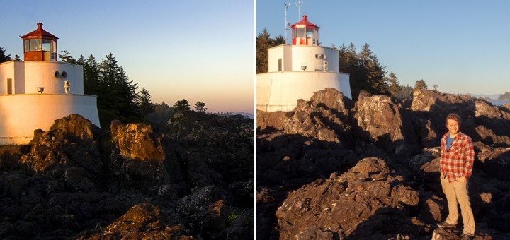 Amphitrite Lighthouse in 2007 and 2015