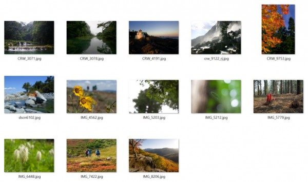 In December 2008, I submitted these 13 photos for consideration for the Windows 7 Beta.